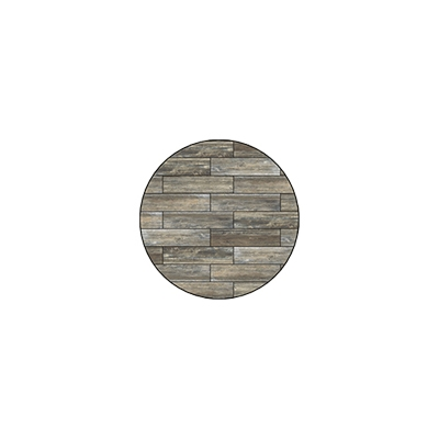 OW Lee Reclaimed Series 24 inch round Porcelain Tile Top - W-24
