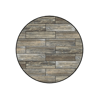 OW Lee Reclaimed Series 54 inch round Porcelain Tile Top - W-54