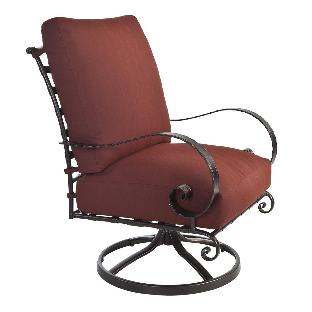 Ow Lee Quick Ship Classico Swivel Rocker Lounge Chair W Trax Merlot Fabric Qs 956 Sr Gr77
