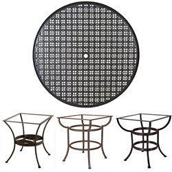 OW Lee 42 inch Round Richmond Cast Top Dining Table - A42CU-DT03