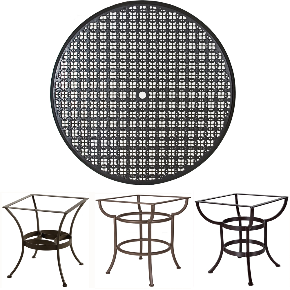 OW Lee 48 inch Round Richmond Cast Top Dining Table - A48CU-DT03