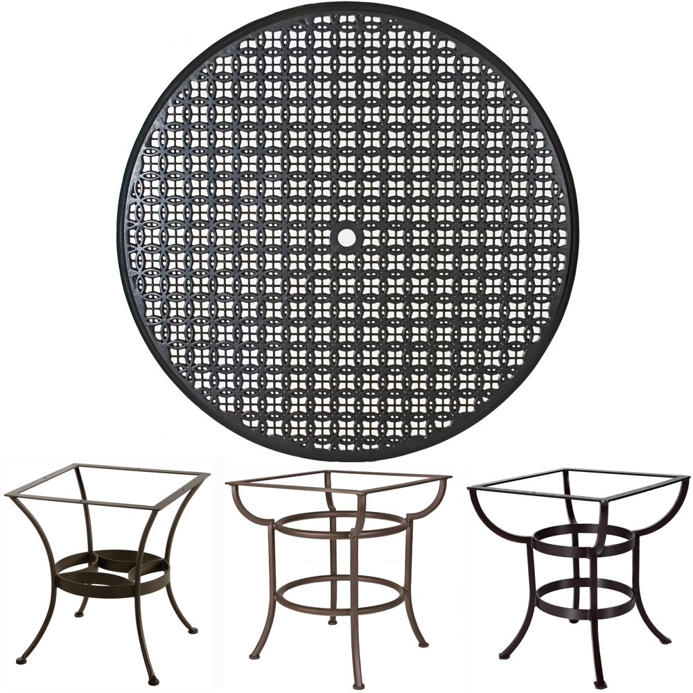 OW Lee 54 inch Round Richmond Cast Top Dining Table - A54CU-DT03