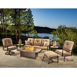 OW Lee Ridgewood Sofa Set with Marina Fire Table