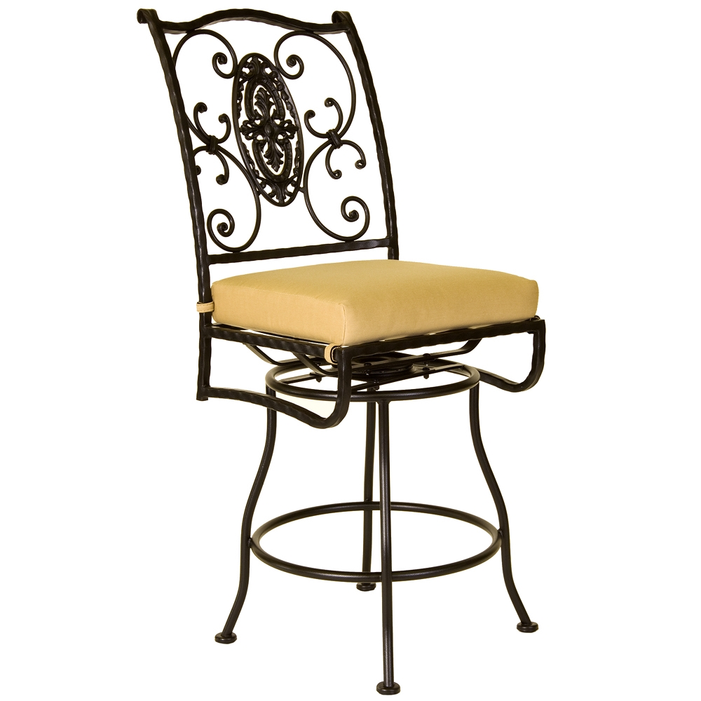 OW Lee San Cristobal Armless Swivel Counter Stool - 651-SCS