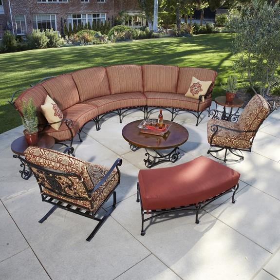OW Lee San Cristobal 9 Piece Curved Sectional Set - OW-SANCRISTOBAL-SET6