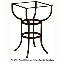 OW Lee Square Tube Aluminum Bar Table Base - WA-BT03