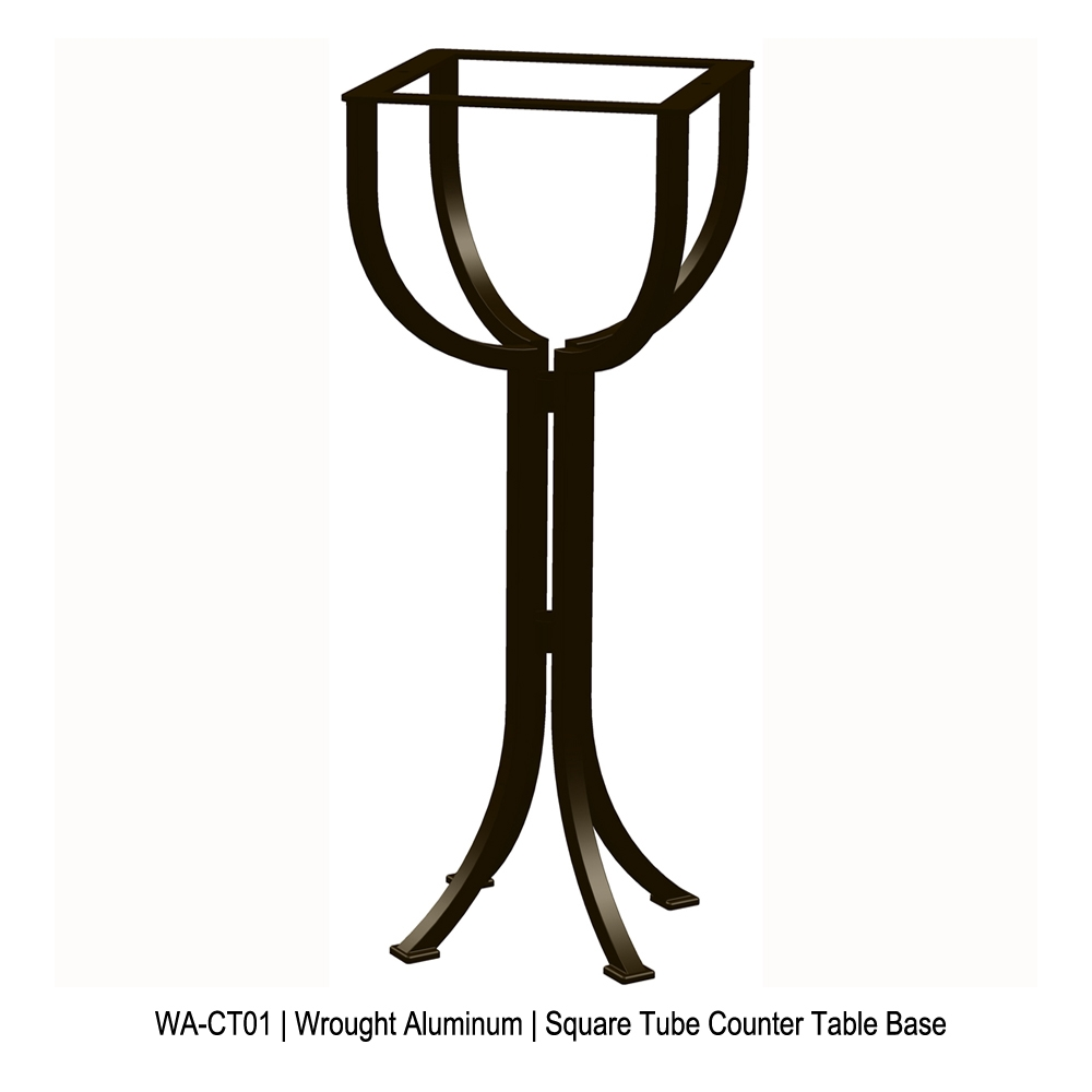 Ow Lee Standard Wrought Iron Counter Height Bistro Table