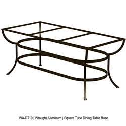 OW Lee Square Tube Aluminum Dining Table Base for Expanding Tops - WA-DT10