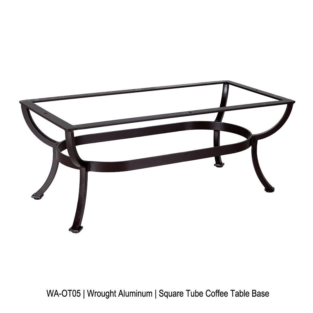 OW Lee Square Tube Aluminum Rectangular Coffee Table Base - WA-OT05