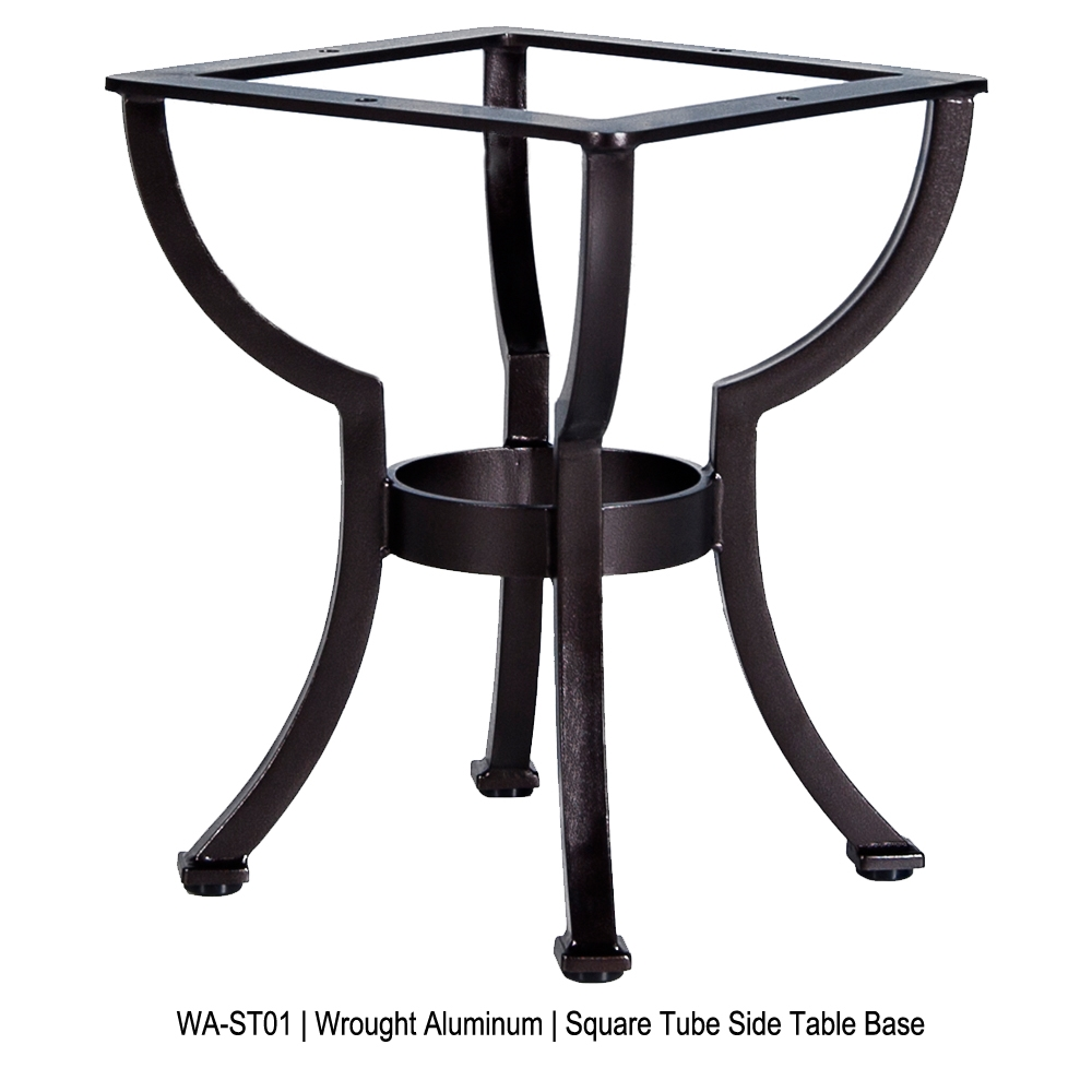 OW Lee Square Tube Aluminum Side Table Base - WA-ST01