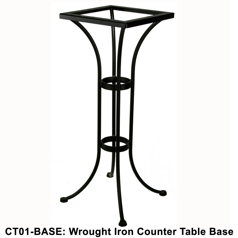 OW Lee Standard Wrought Iron Counter Height Bistro Table Base | CT01 BASE