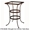 Standard Wrought Iron Counter Table Base (CT03-BASE)