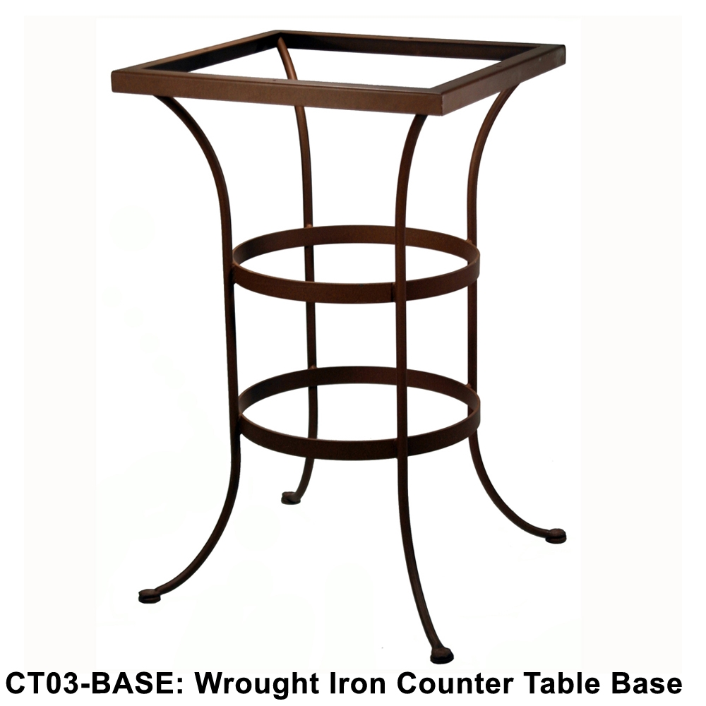 Perfect OW Lee Standard Wrought Iron Counter Height Table Base   CT03 BASE