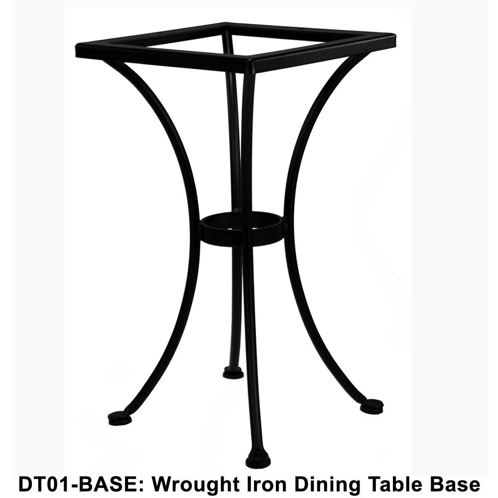ow lee standard wrought iron bistro dining table base dt01 base. Black Bedroom Furniture Sets. Home Design Ideas