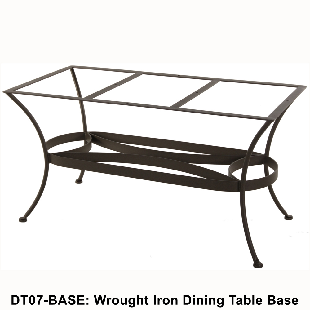 Ow Lee Standard Wrought Iron Rectangular Dining Table Base Dt07 Base