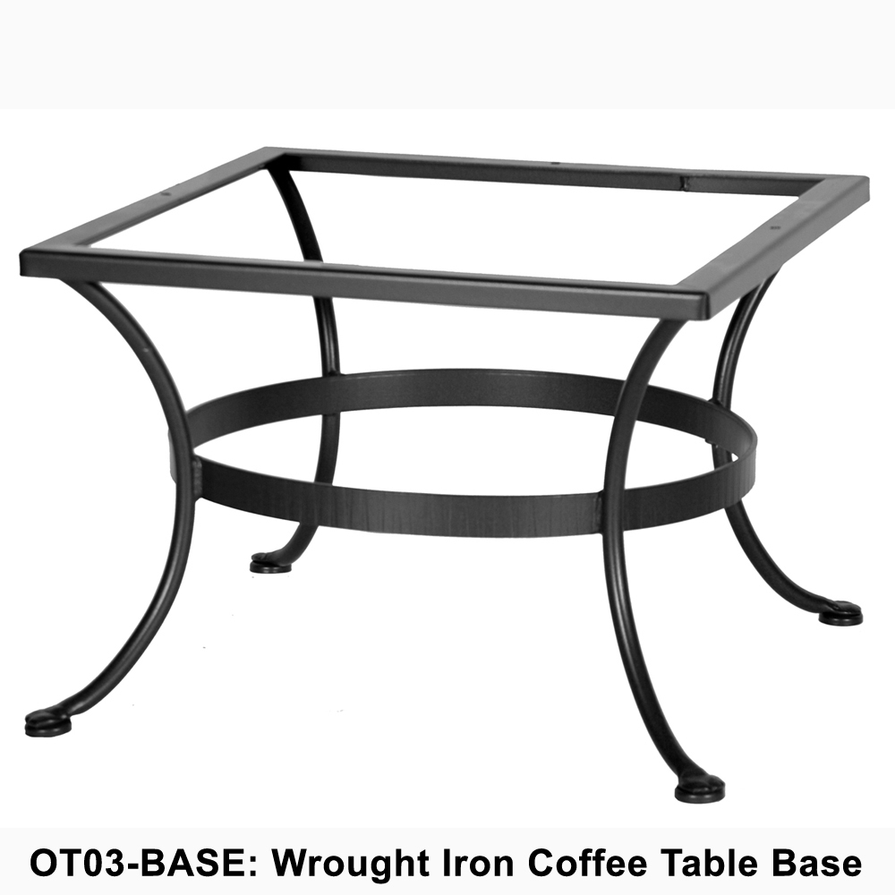 Ow lee standard wrought iron coffee table base ot03 base Wrought iron coffee table bases