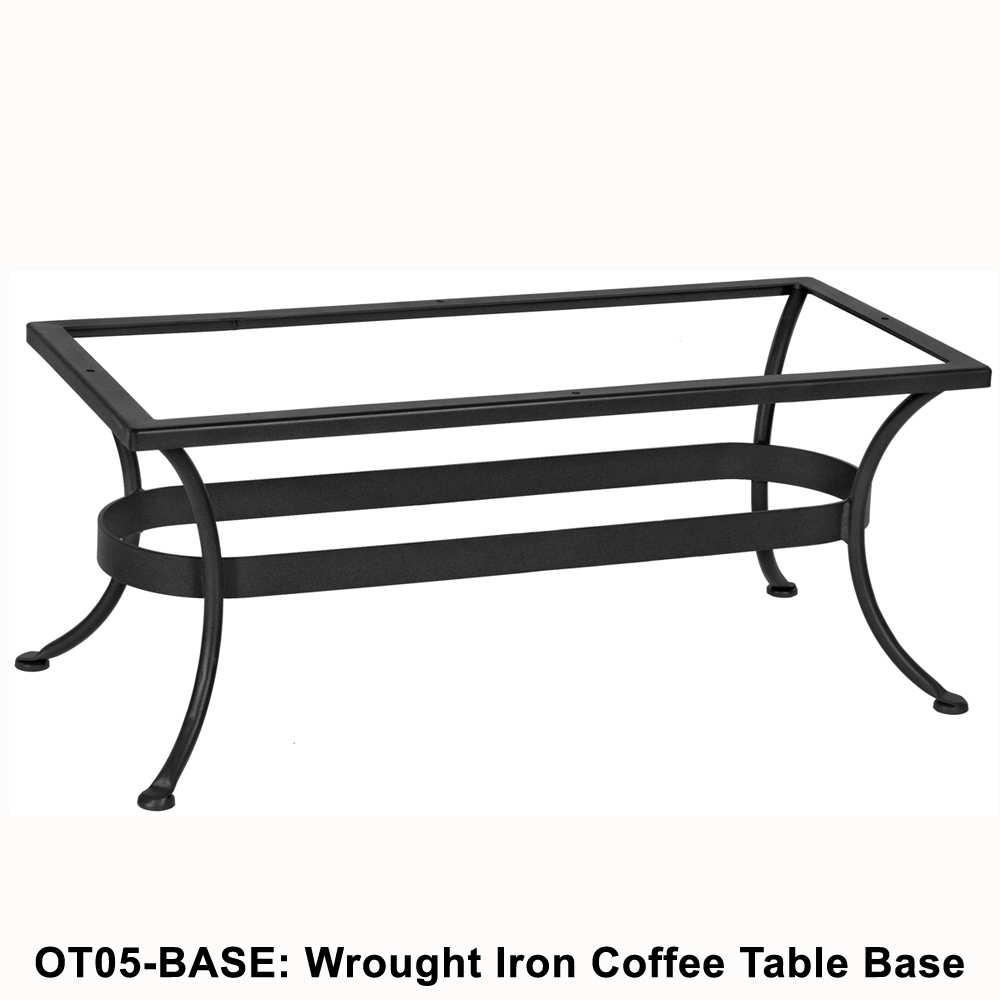 Ow lee standard wrought iron rectangular coffee table base ot05 base geotapseo Images