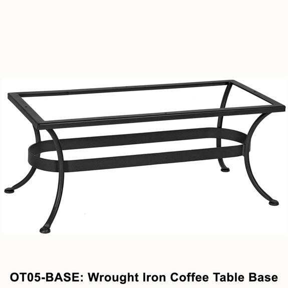 ow lee standard wrought iron rectangular coffee table base ot05 base. Black Bedroom Furniture Sets. Home Design Ideas