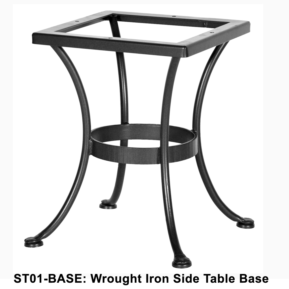 Ow lee standard wrought iron side table base st01 base for Side table base
