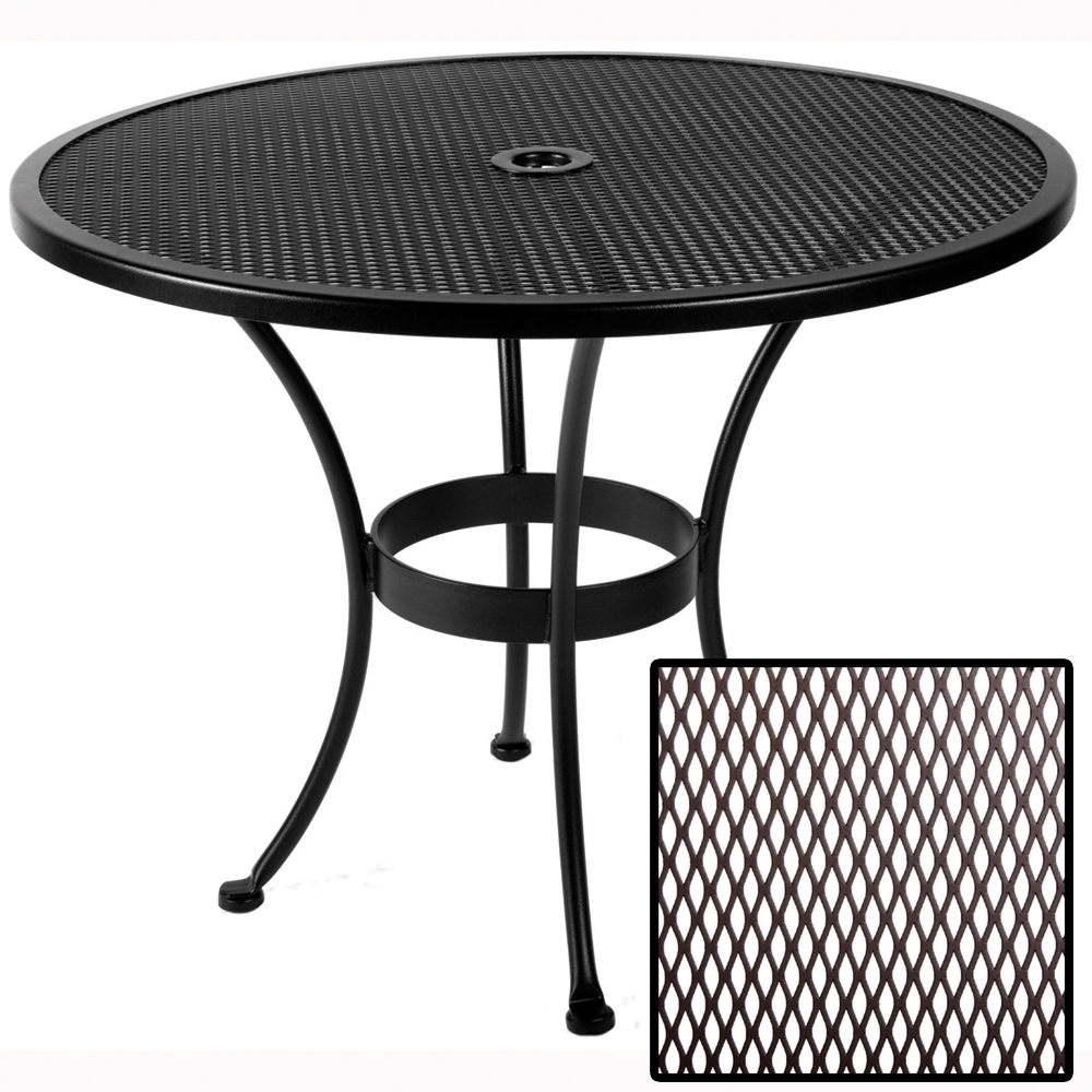 OW Lee Standard Mesh 36 Inch Round Dining Table   36 MU