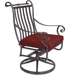 OW Lee St. Charles Swivel Rocker Dining Arm Chair - 2653-SR