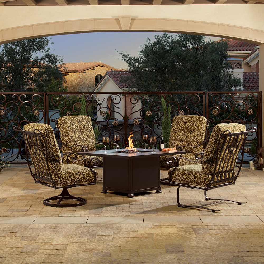 OW Lee St Charles 5 Piece Fire Pit Chat Set   OW STCHARLES SET1