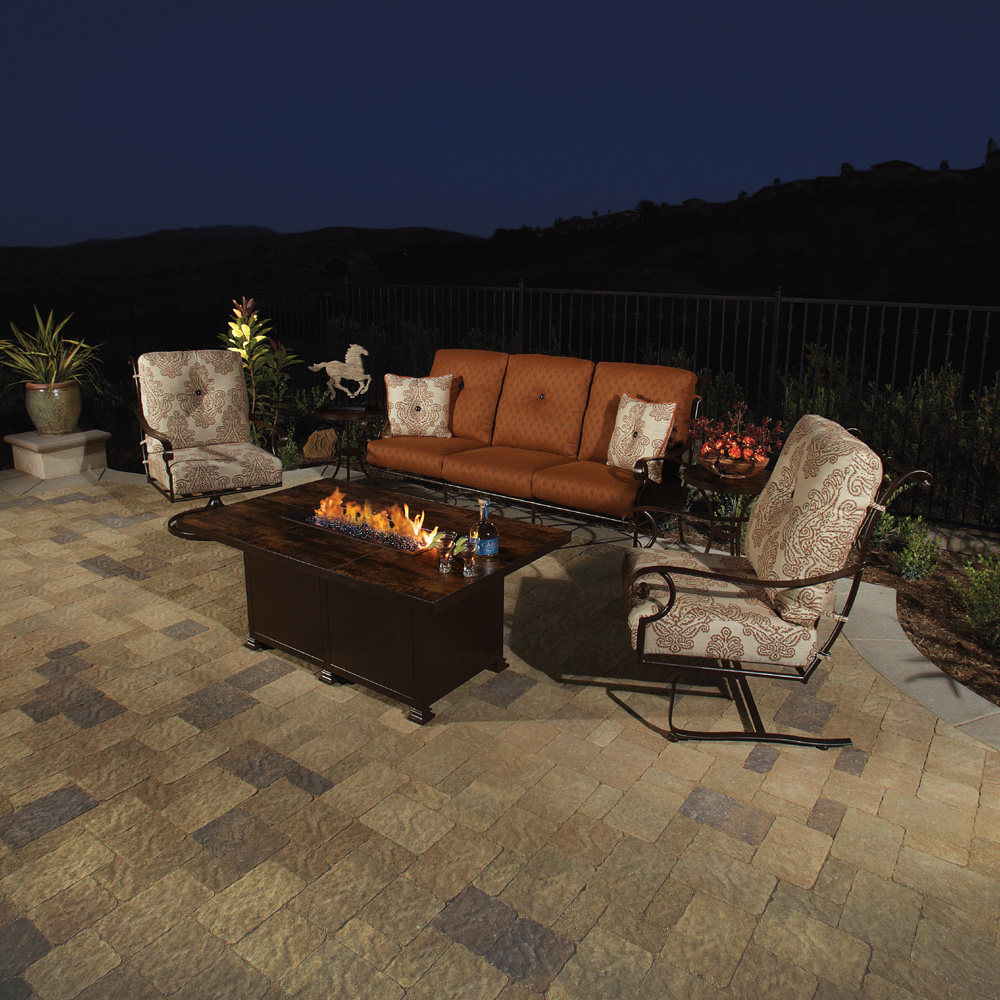 OW Lee St Charles 6 Piece Patio Set with Fire Pit