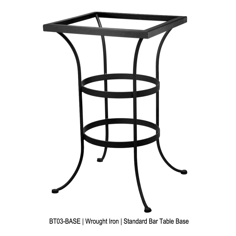 """OW Lee 36"""" Square Porcelain Tile Top Bar Table  P3636SQ-BT03"""