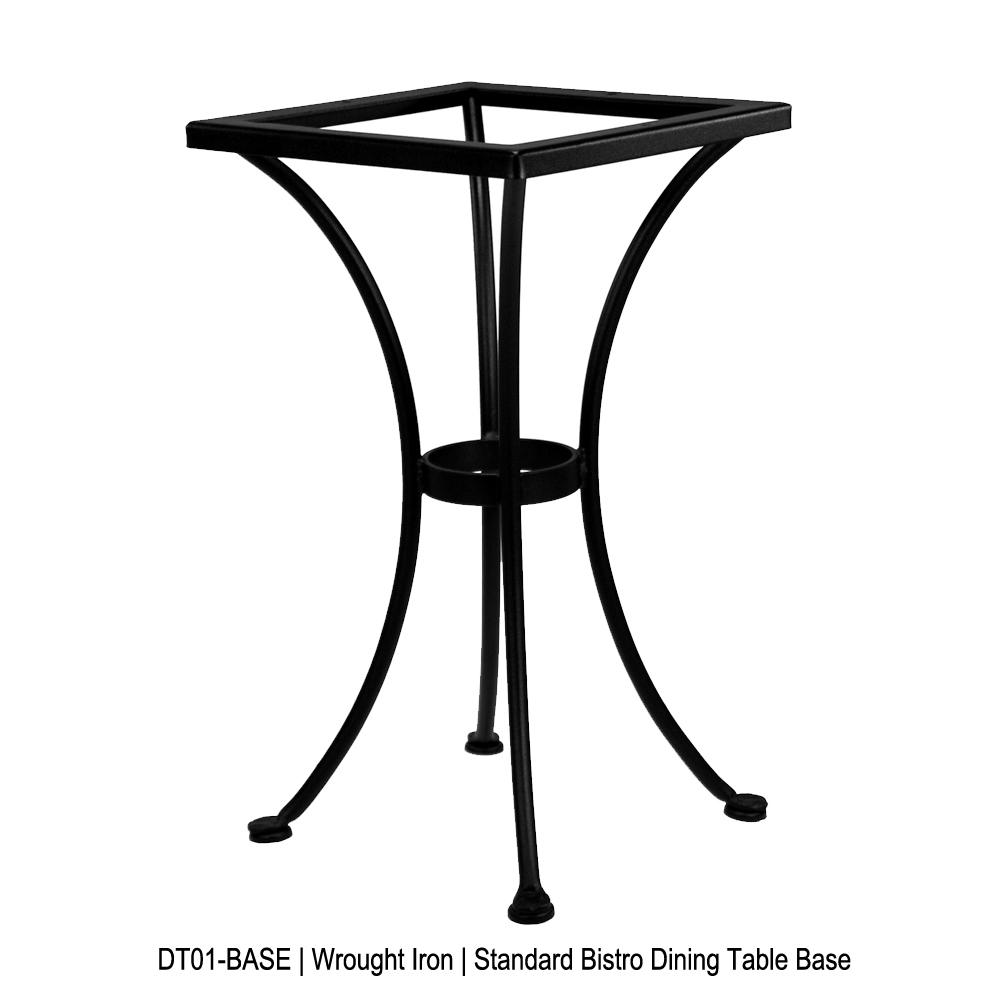 ... 24 Inch Square Hacienda Cast Top Bistro Table   A 24SQB DT01 BASE ...