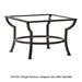 34 inch Square Richmond Cast Top Coffee Table - A34SQC-OT03