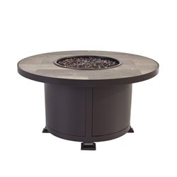 "OW Lee OW Lee Vulsini 36"" Round Occasional Height Aluminum Fire Pit - 5120-36RDO"