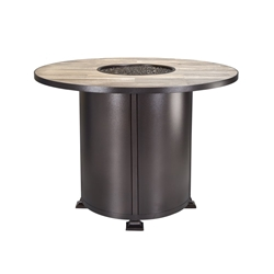 "OW Lee OW Lee Vulsini 54"" Rd Counter Height Aluminum Fire Pit - 5120-54RDK"