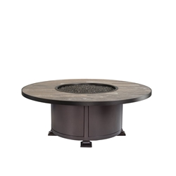 "OW Lee OW Lee Vulsini 54"" Round Occasional Height Aluminum Fire Pit - 5120-54RDO"