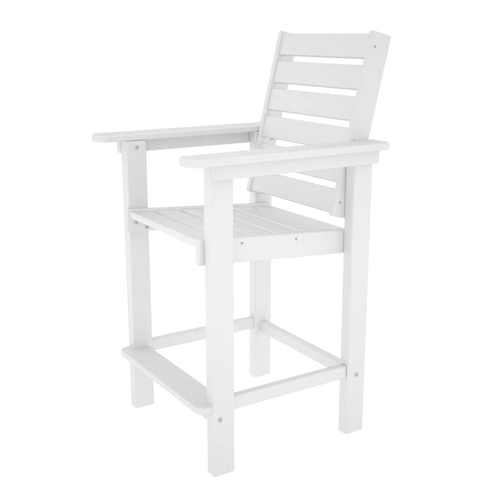 polywood captain counter height chair ccb25