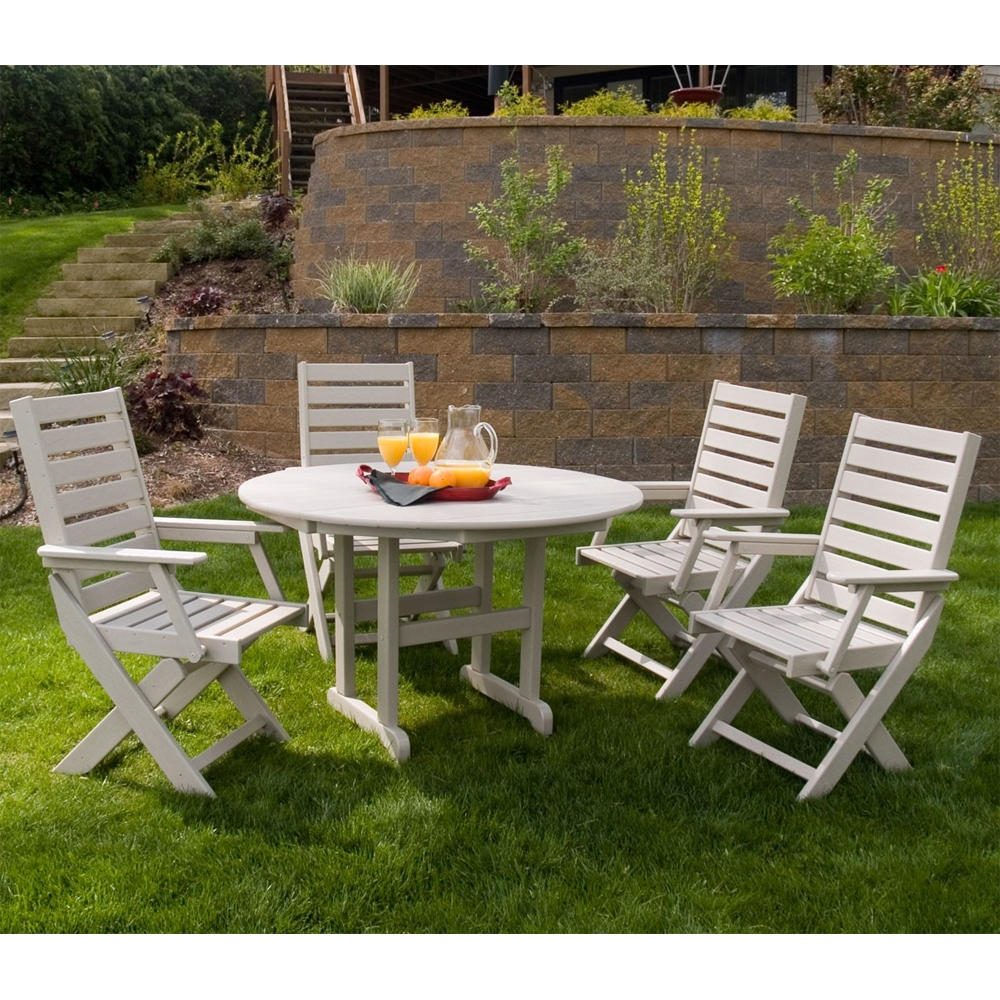 PolyWood Captain 5 Piece Dining Set - PW-CAPTAIN-SET1