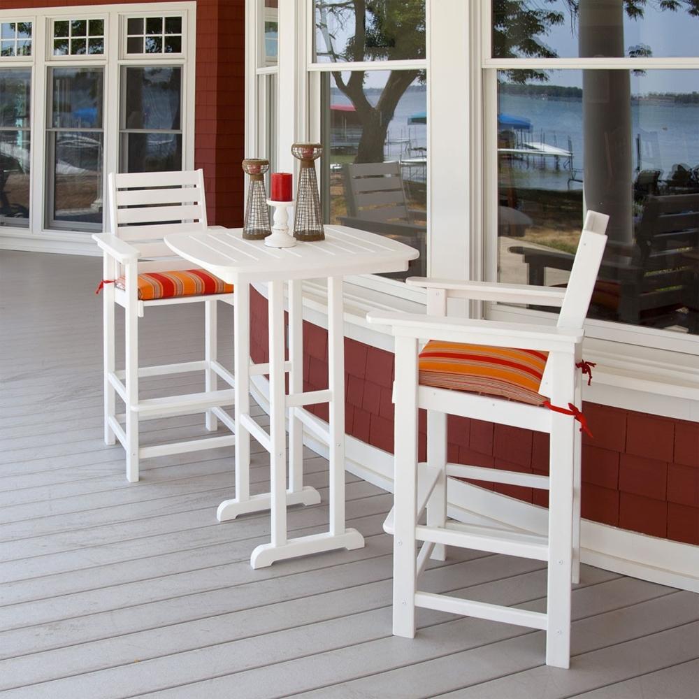 Outstanding Polywood Captain Bar Height Bistro Set Pw Captain Set4 Uwap Interior Chair Design Uwaporg