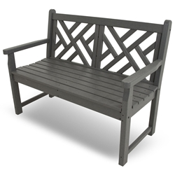PolyWood Chippendale 48 inch Bench - CDB48