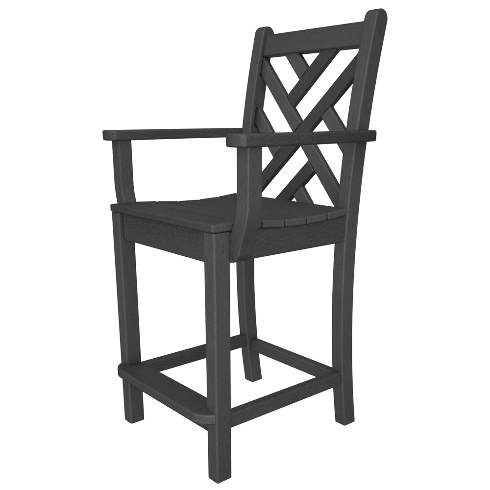 PolyWood Chippendale Counter Arm Chair - CDD201
