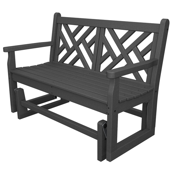 bench garden furniture gliders traditional plastic arms polywood pw glider rockers with inches outdoor