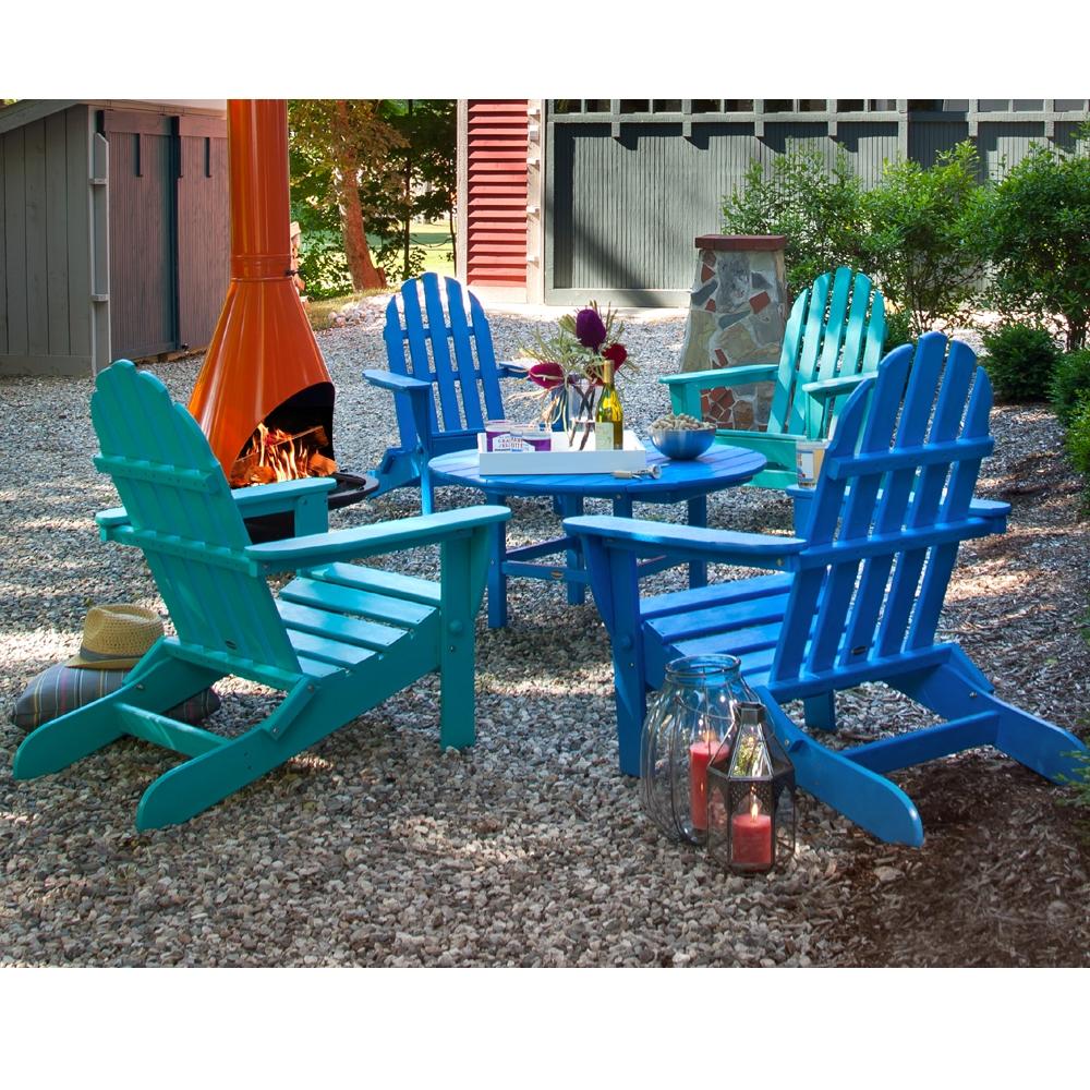 polywood classic adirondack 5 piece set - Polywood Adirondack Chairs
