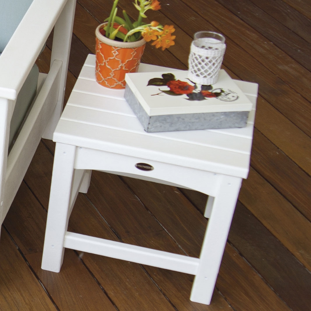 Polywood 174 Club 18 Inch Square Side Table Clt1818