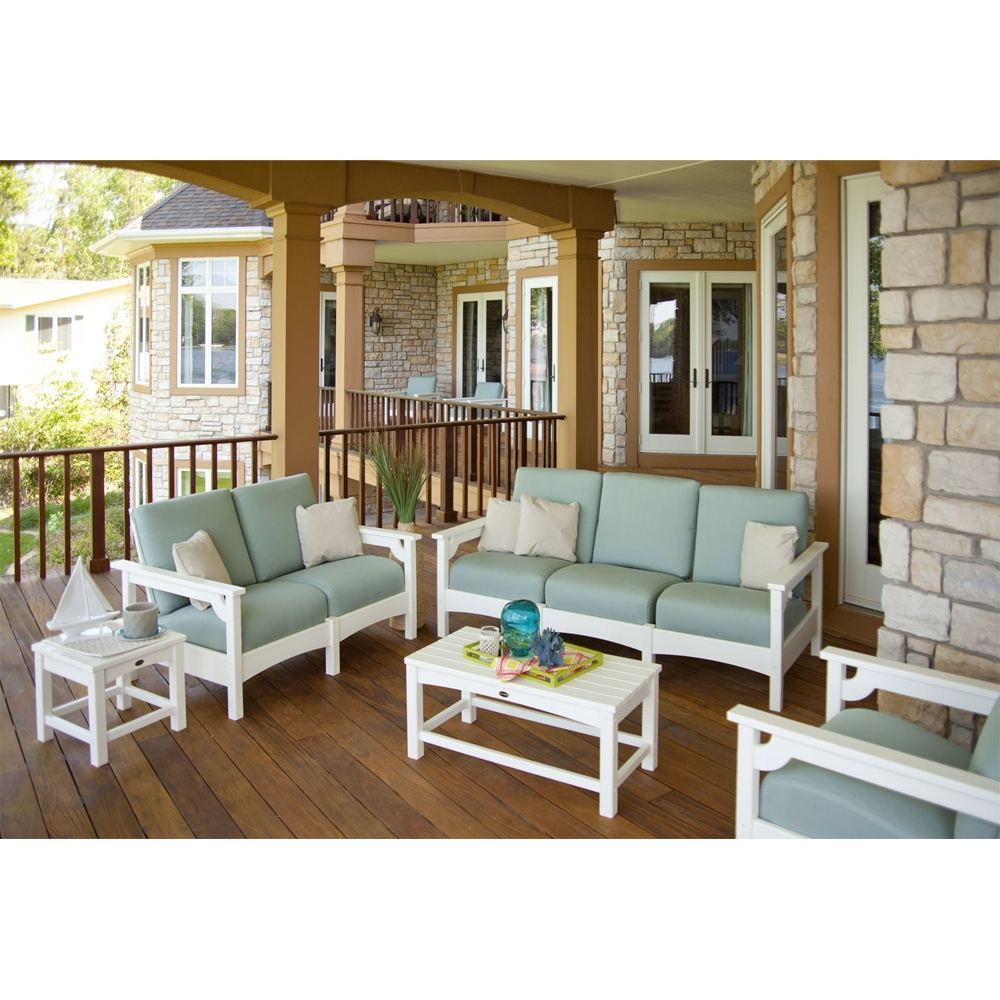 Polywood club patio lounge set pw club set1 for Patio lounge sets