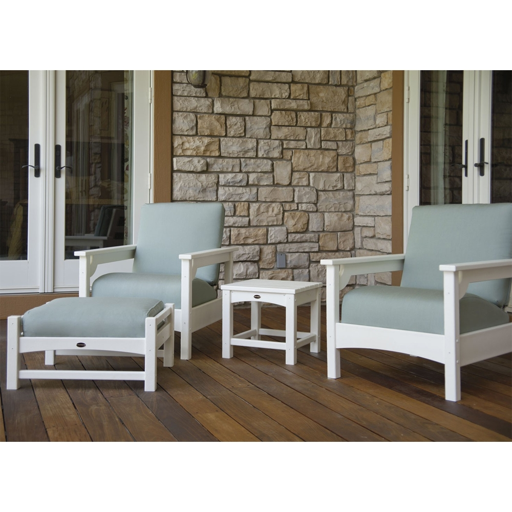 PolyWood Club 4 Piece Lounge Chair Set - PW-CLUB-SET2