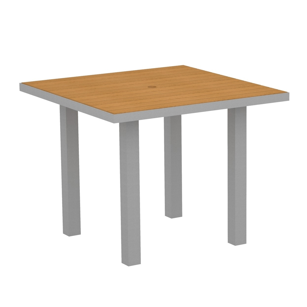 POLYWOOD Euro 36 Inch Square Dining Table AT36