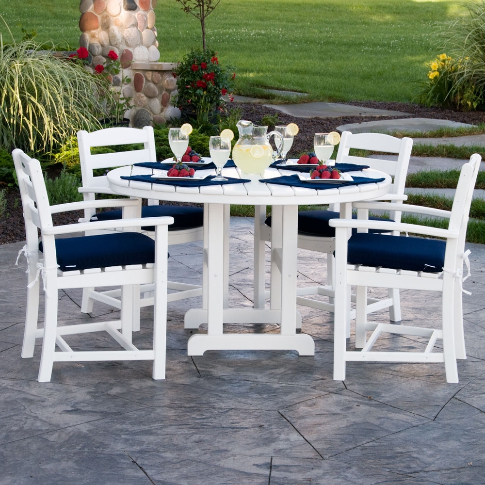 Polywood 174 48 Inch Round Dining Table Rt248
