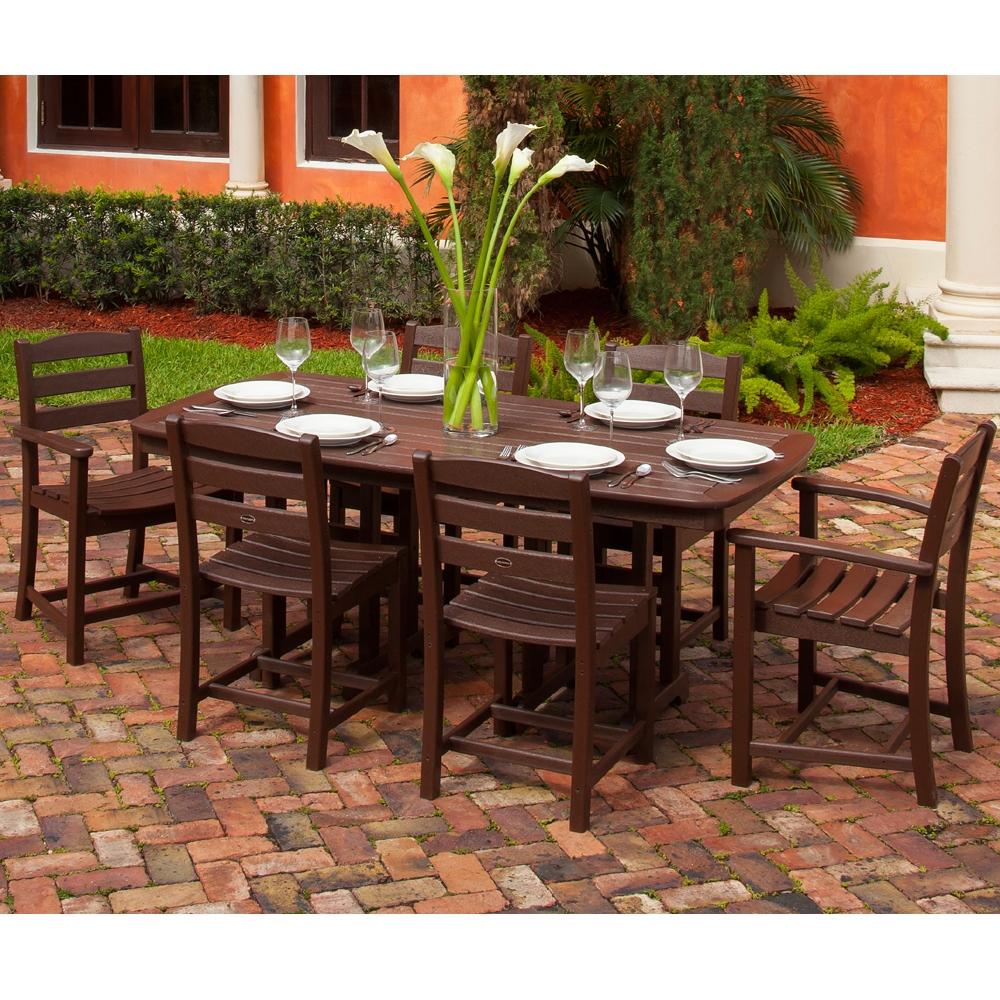 ... PolyWood La Casa Cafe 7 Piece Dining Set   PW LACASA SET3 ...