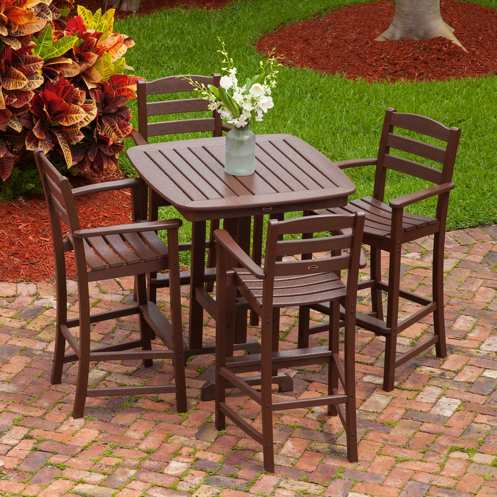 PolyWood La Casa Cafe Patio Bar Set - PW-LACASA-SET4