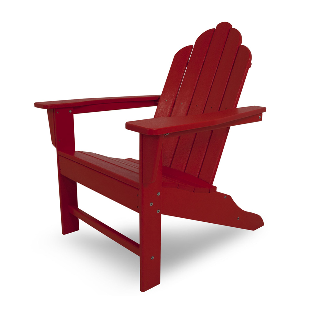 Patio Furniture In Long Island: POLYWOOD® Classic Oversized Curved Back Adirondack Chair