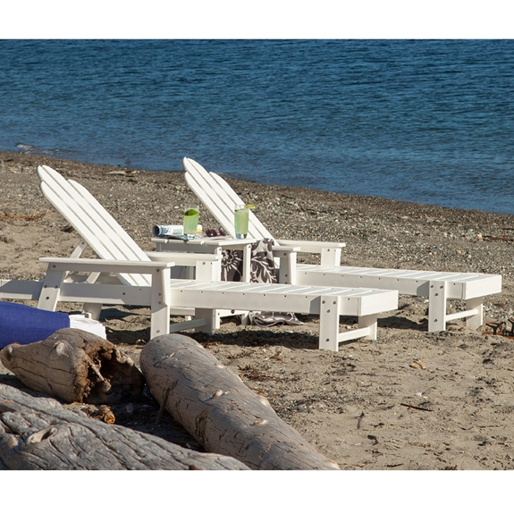 Patio Furniture In Long Island: POLYWOOD® Long Island Chaise Lounge Set