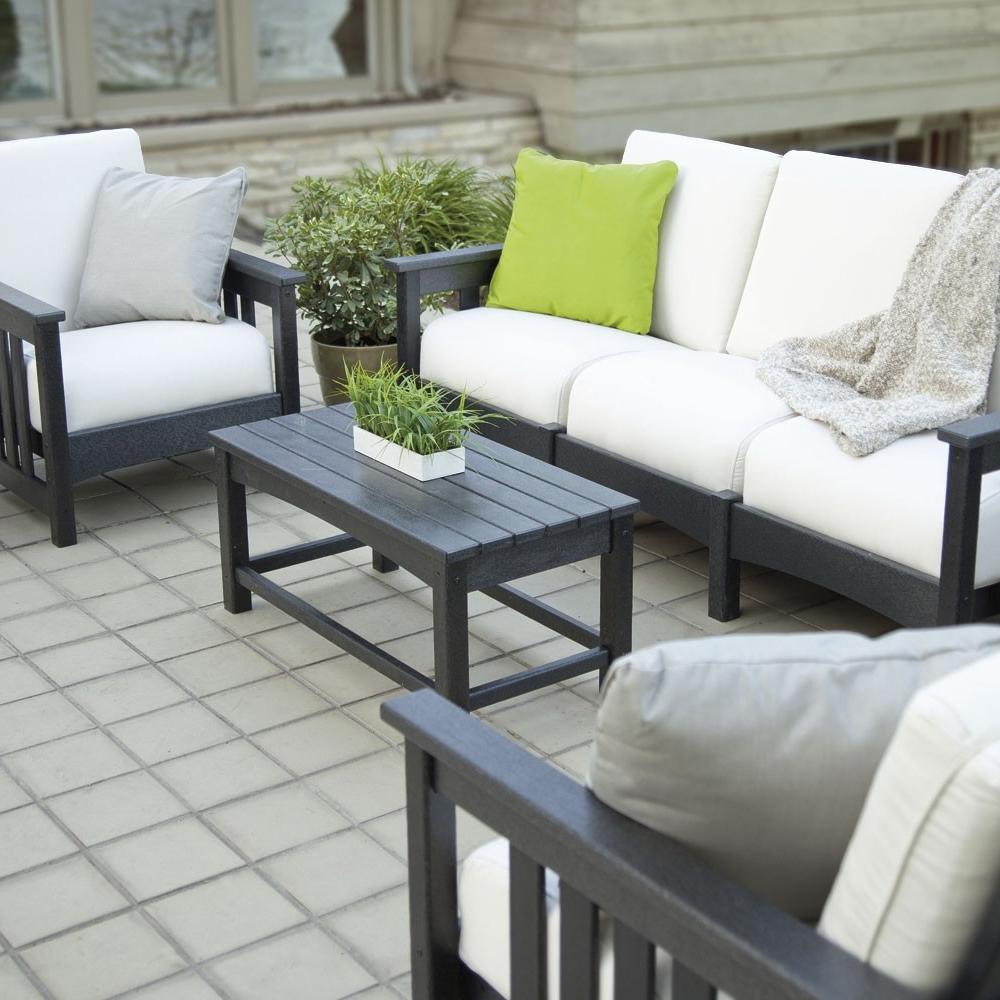 polywood mission 4 piece lounge set pw mission set1. Black Bedroom Furniture Sets. Home Design Ideas